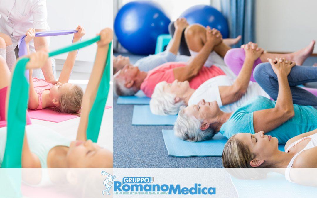 Migliorare la mobilità articolare e l'elasticità muscolare con la GINNASTICA CORRETTIVA del Gruppo Romano Medica