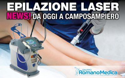 Epilazione LASER da oggi anche nella sede di Camposampiero (PD)