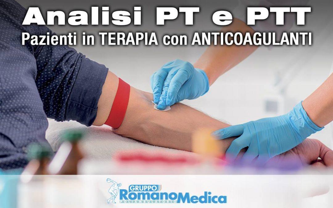 Servizio di analisi del PT/INR (tempo di protrombina) e PTT (tempo di tromboplastina) con REFERTAZIONE entro le 12.00 del giorno stesso del prelievo